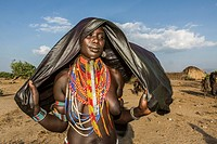 tribal woman in oma valley, Ethiopia.