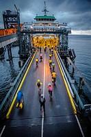 Seattle ferry terminal, Washington State.