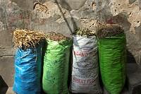 Bags of spices. Stone Town, Zanzibar, Tanzania.