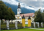 At Stams Abbey, Stift Stams, Stams, Tyrol, Austria.