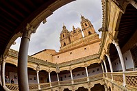Casa de las Conchas and La Clerecía Bell Towers, Urban Palace, National Monument, Gothic Plateresque Style, 15th-16th century, Salamanca, UNESCO World...