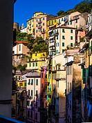 Italy, Cinque Terre, at Riomaggiore.