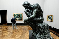 Rodin's The Thinker at Alte Nationalgalerie on Museumsinsel, Berlin, Germany.