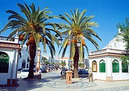 Street. Olivenza, Badajoz province, Extremadura, Spain.