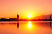 Sweden - Stockholm Skyline at dawn.