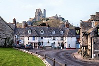 Corfe Castle, Dorset, England, UK.
