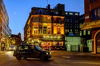 London,England.The Greencoat Boy Public House on Artilery Row at night