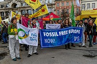 Antwerp 11-03-2017 - Six years after the Fukushima nuclear disaster will Belgians and Dutch along the streets to demand the closure of dangerous nucle...