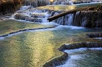 Laos, Luang Prabang, Kuang Si waterfalls,.