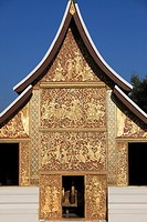 Laos, Luang Prabang, Wat Xieng Thong, Funerary Carriage Hall, buddhist temple,.