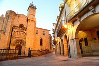 Cathedral of San Martin of Orense from Trigo square, Orense, Spain