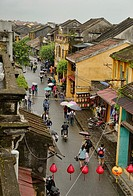View from above of the historic old district, Hoi An, Vietnam.