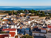 White village of Mijas Pueblo. Malaga province Costa del Sol. Andalusia southern Spain. Europe.