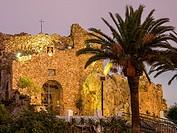 Hermitage virgen de la Peña. White village of Mijas Pueblo. Malaga province Costa del Sol. Andalusia southern Spain. Europe.