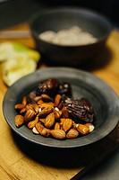 Hazelnuts and dates.