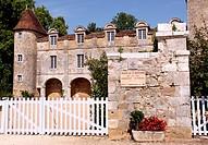 """Saint Jean de Cole, Dordogne, Aquitaine, France, label """"""""Plus beaux villages de France"""""""". Chateau de la Marthonié."""