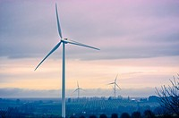 Consumer´s Energy Lake Winds(100 megawatt) wind turbines near Ludington, Michigan, USA.