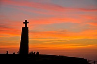 Sky at Cabo da Roca point of view, period of sunset time