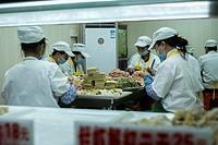 Dumplings making in Guangzhou, China.