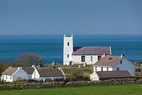 UK, Northern Ireland, County Antrim, Ballintoy, Ballintoy Church.
