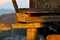 Typical horreo, close view, Asturias, Spain