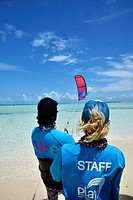class kitesurf, staff woman and mean, los roques venezuela sebastopol