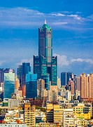 Taiwan, Kaohsiung City, Tuntex Sky Tower, city skyline