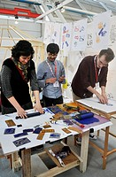 Bologna, Italy: an Italian school for handmade printing molds´ stand at Bologna Children´s Book Fair