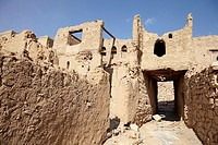 Ruins in the historic town of Al Hamra, Oman.