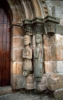 Western door of the church of Nuestra Señora del Azogue. Puebla de Sanabria. Zamora. Castilla y León. Spain.