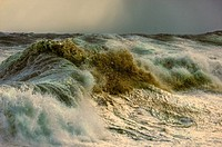 Rough seas ahead of the cold front. Cape Town.