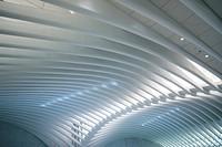 USA, New York, New York City, Lower Manhattan, The Oculus, World Trade Center PATH train station, designed by Santiago Calatrava, interior.