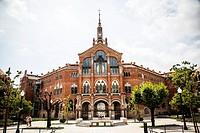 Hospital of the Holy Cross and Saint Paul, (Hospital de la Santa Creu i de Sant Pau), Barcelona, Catalonia, Spain,.