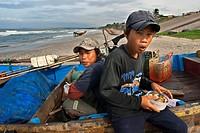 Vietnam, Mui Ne, Mui Ne Beach, Fishing Catch. fishing village, Bình Thuận Province, Vietnam.