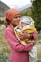 Portraits of local people in Rothang Mountain Pass , Manali - Leh Road, Himachal Pradesh, India.