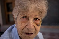Battered woman, Old woman, Spain