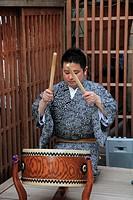 Japan, Kyoto, Gion Matsuri, festival, musician, drummer,.