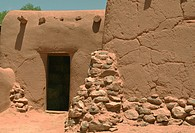 old adobe building, New Mexico.