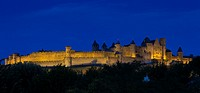Panoramic of Carcassonne, Aude, France.