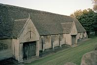 Saxon Tithe Barn in Bradford Upon Avon in Wiltshire in England in Great Britain in the United Kingdom.