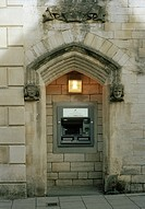 Modern ATM in Bradford on Avon in Wiltshire in England in Great Britain in the United Kingdom.