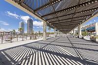 Harbour of Forum -Port del Forum-, Barcelona, Spain.