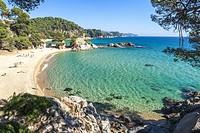 Treumal Cove in Lloret de Mar, Costa Brava Girona, Spain.