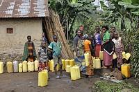 Democratic Republic of Congo, Village near Virunga National Park.