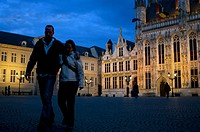 BRUGES : The Town Hall and the Burg Square. Bruges is a city with two town squares. The largest one is the Market, the commercial heart of medieval Br...