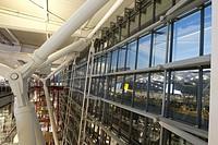 uk, england, Heathrow airport Terminal 5 dusk.