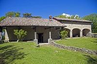 Italy, Emilia Romagna, mountain, house and park.