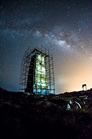 Abandoned Lighthouse, Los Roques venezuela,Milky Way,.