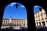 Main square of Ocaña, Toledo, Spain.
