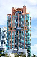 Miami, Florida. High-rise Condominium at South Pointe, South Beach.